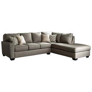 Contemporary Sectional with Right Chaise
