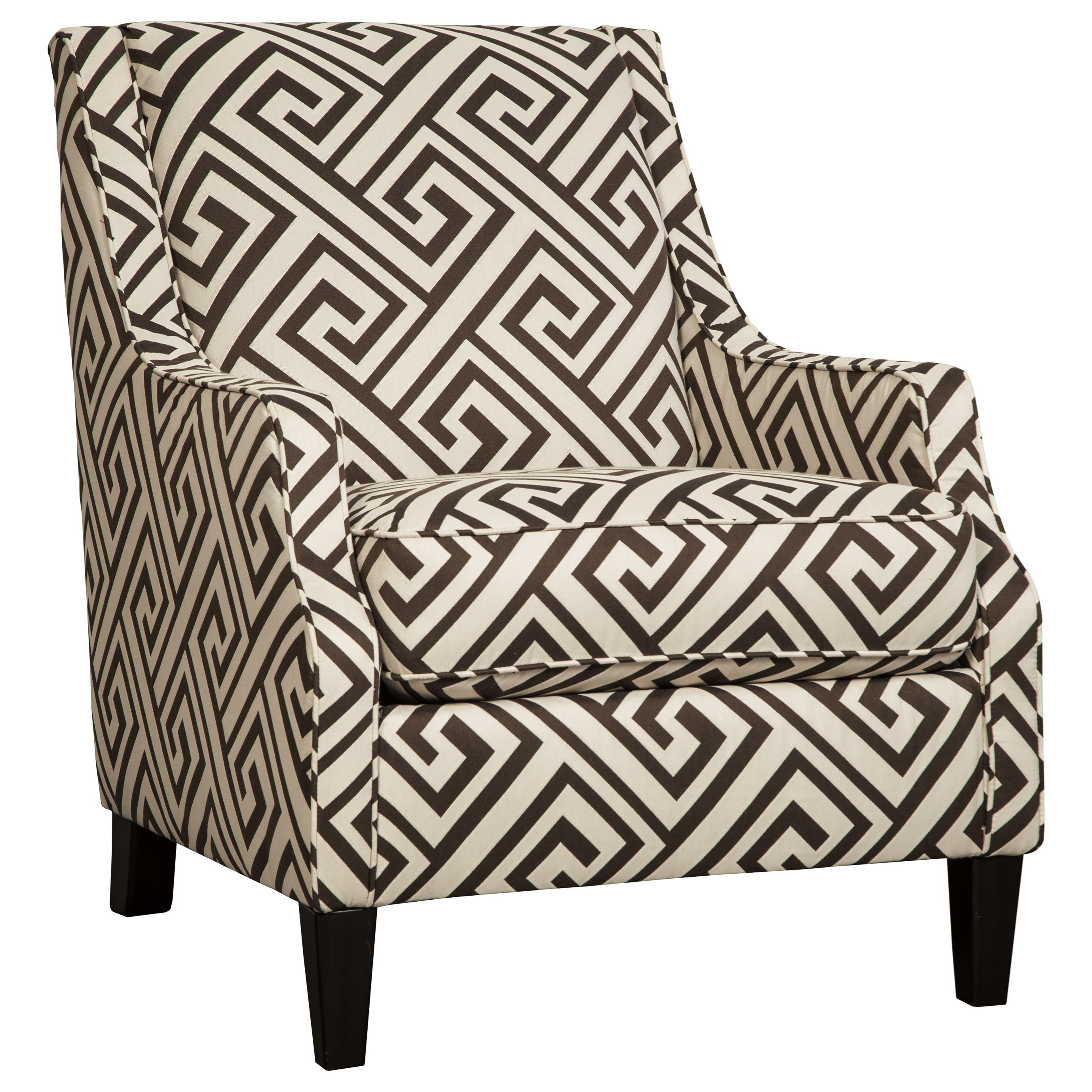 Attrayant Greek Key Fabric Accent Chair