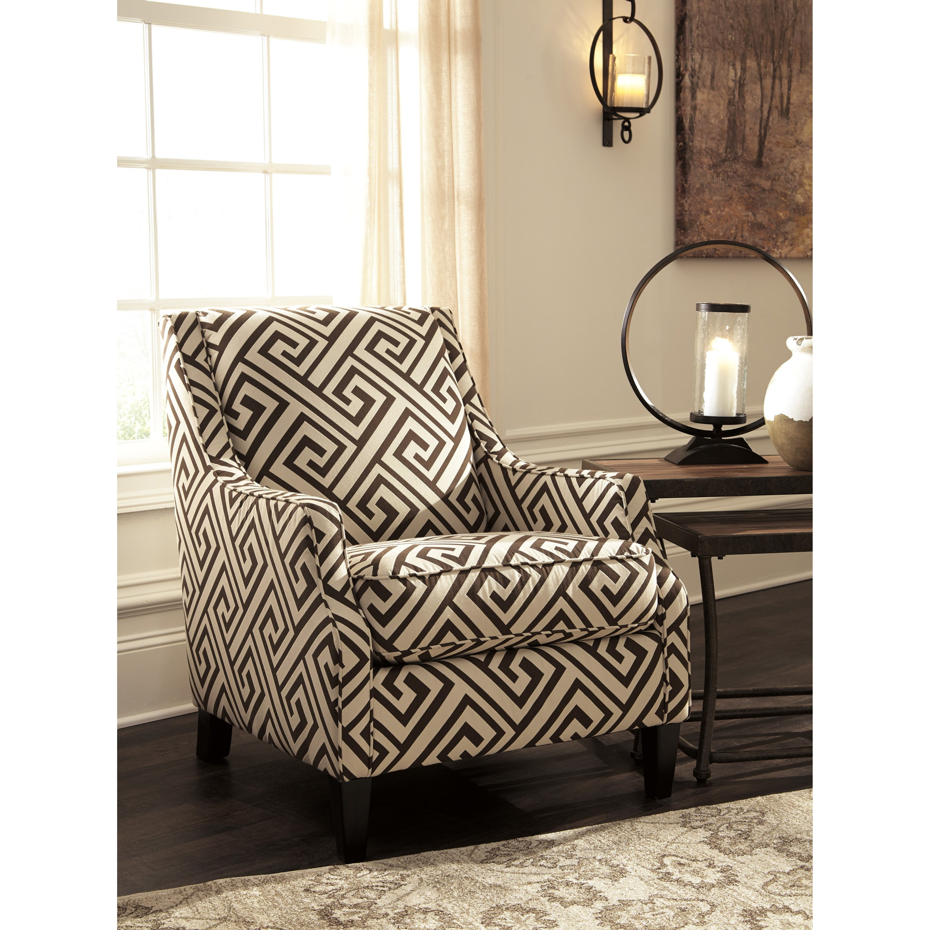 Exceptionnel Greek Key Fabric Accent Chair