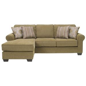 Benchcraft Corridon - Burlap Sofa Chaise Queen Sleeper