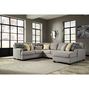 Contemporary 4-Piece Sectional with Chaise
