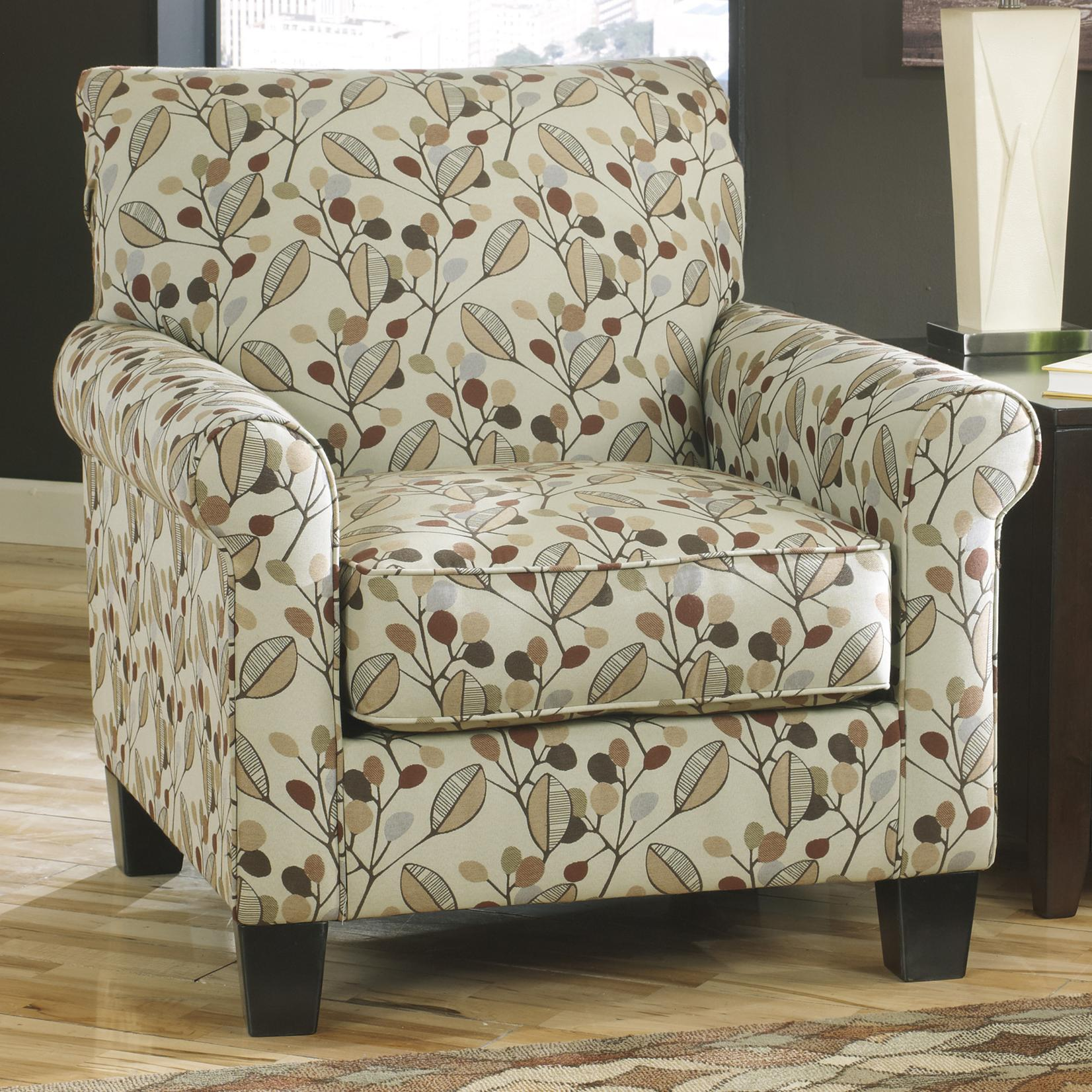 Accent Chair in Leaf Print Fabric by Benchcraft