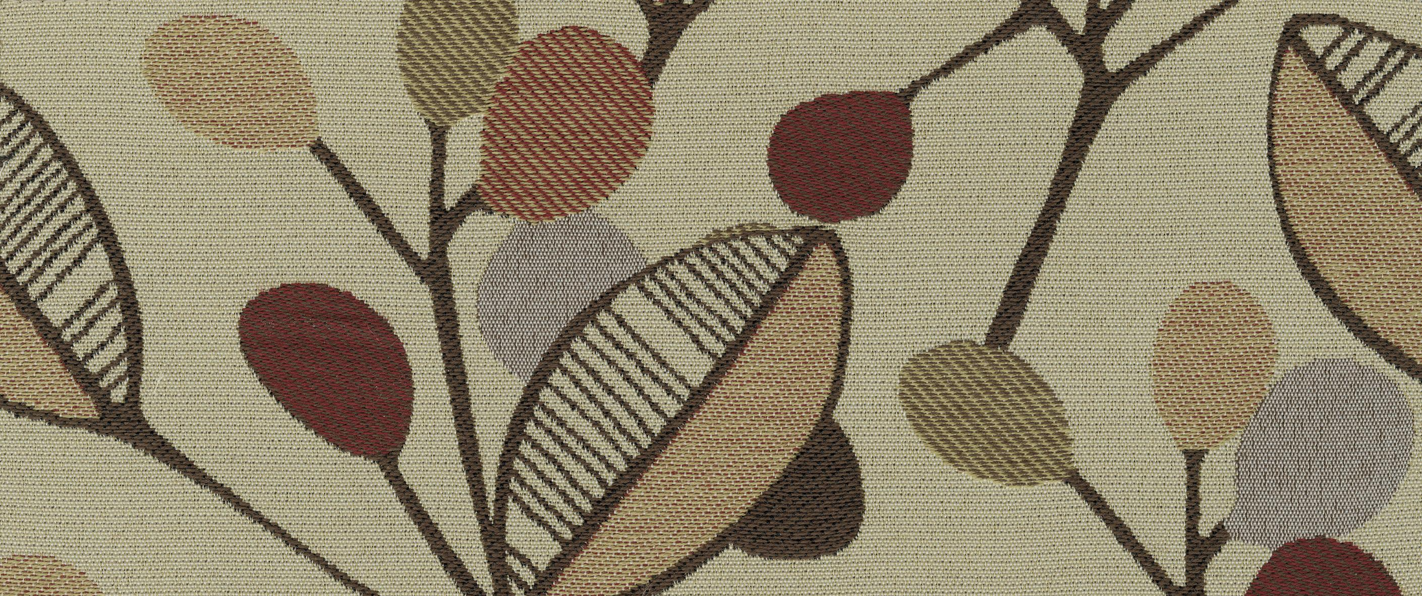 Accent Chair In Leaf Print Fabric