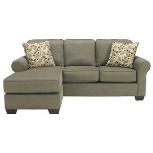 Benchcraft Danely - Dusk Sofa Chaise Queen Sleeper