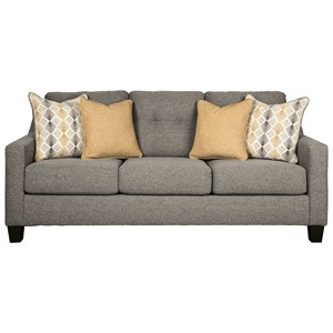 Contemporary Queen Sofa Sleeper with Tufted Back
