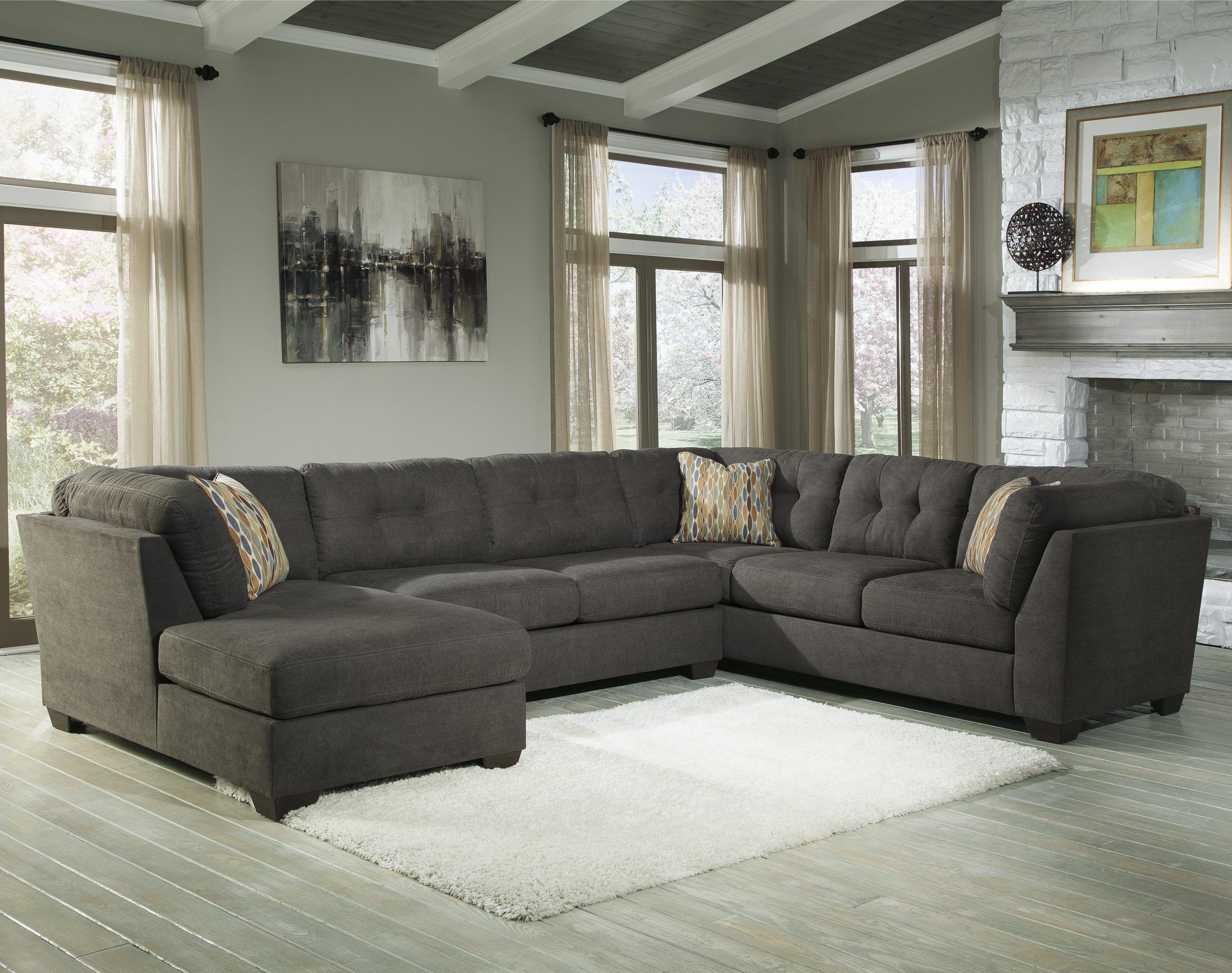 3-Piece Modular Sectional w/ Armless Sleeper u0026 Left Chaise : benchcraft sectional - Sectionals, Sofas & Couches