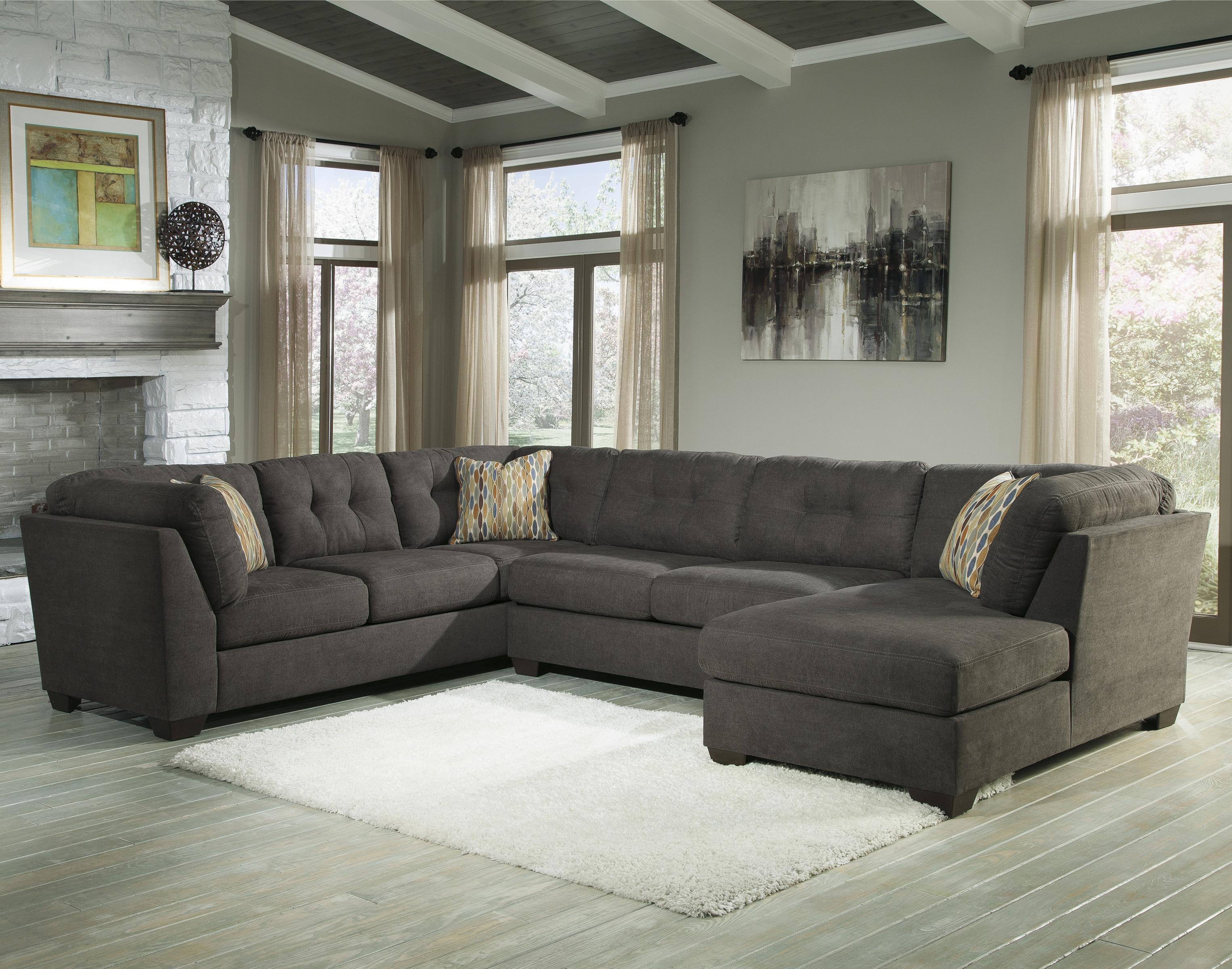 3 Piece Modular Sectional With Right Chaise By Benchcraft Wolf And
