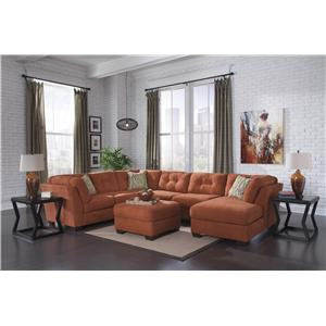 Ashley/Benchcraft Delta City - Rust Stationary Living Room Group