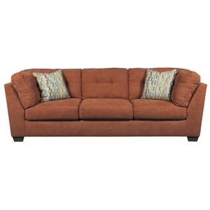 Benchcraft Delta City - Rust Sofa