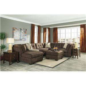 Ashley/Benchcraft Delta City - Chocolate Stationary Living Room Group