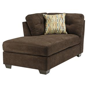 Ashley/Benchcraft Delta City - Chocolate LAF Corner Chaise