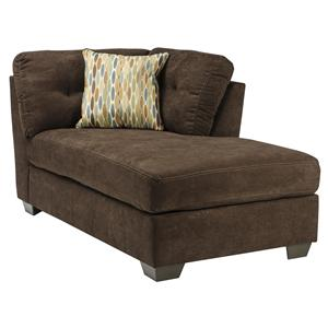 Ashley/Benchcraft Delta City - Chocolate RAF Corner Chaise