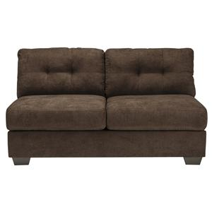 Contemporary Armless Loveseat with Tufted Back