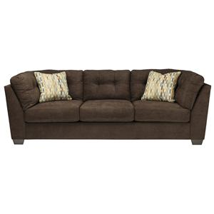 Ashley/Benchcraft Delta City - Chocolate Sofa