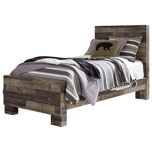 Rustic Modern Twin Panel Bed