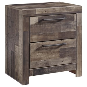 2-Drawer Nightstand with USB Chargers