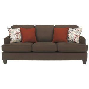 Benchcraft Deshan - Chocolate Queen Sofa Sleeper