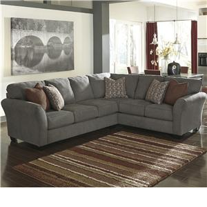 Benchcraft Doralin - Steel Contemporary Sectional