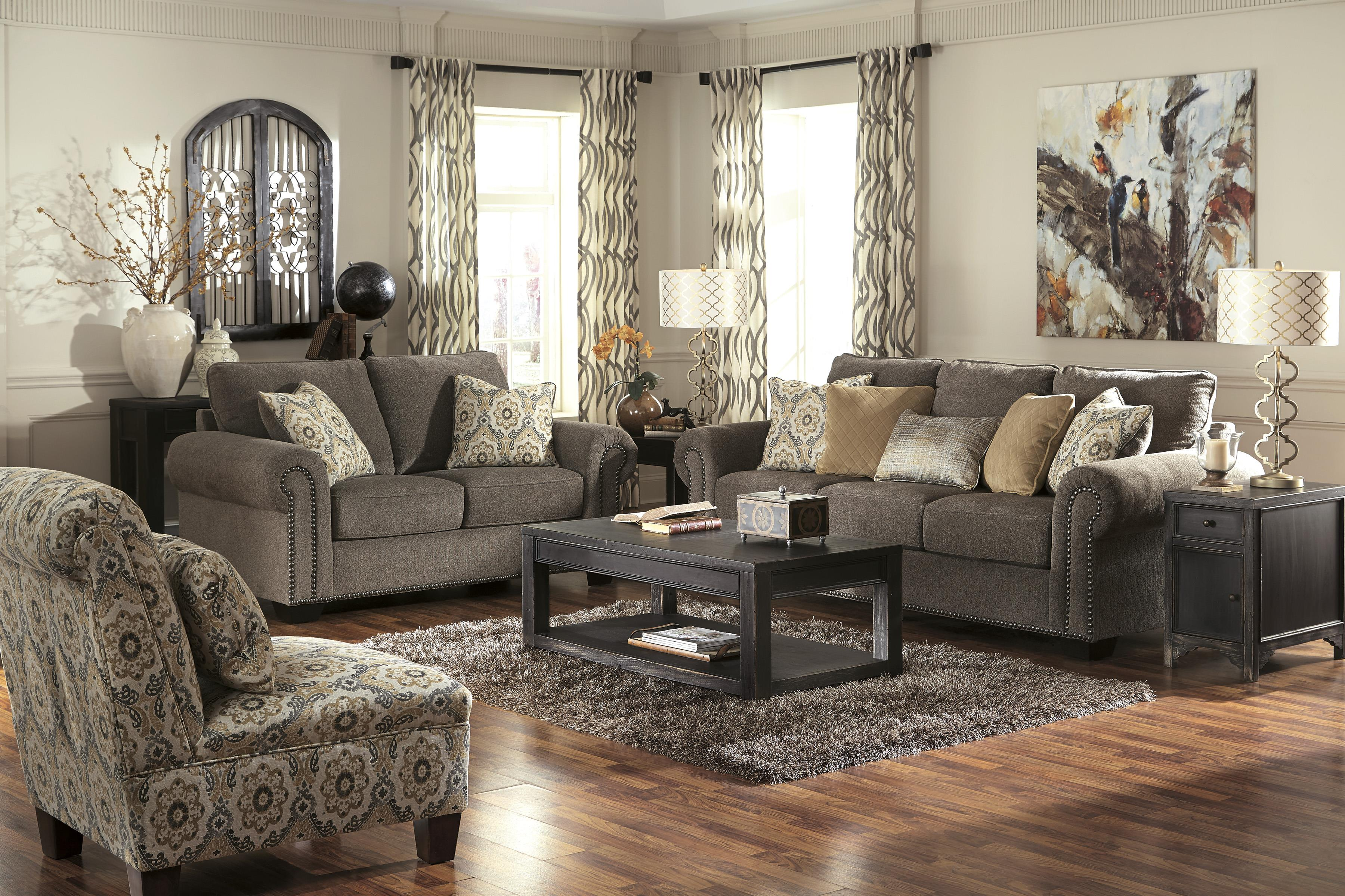 Transitional Sofa With Nailhead Trim Amp Coil Seating By