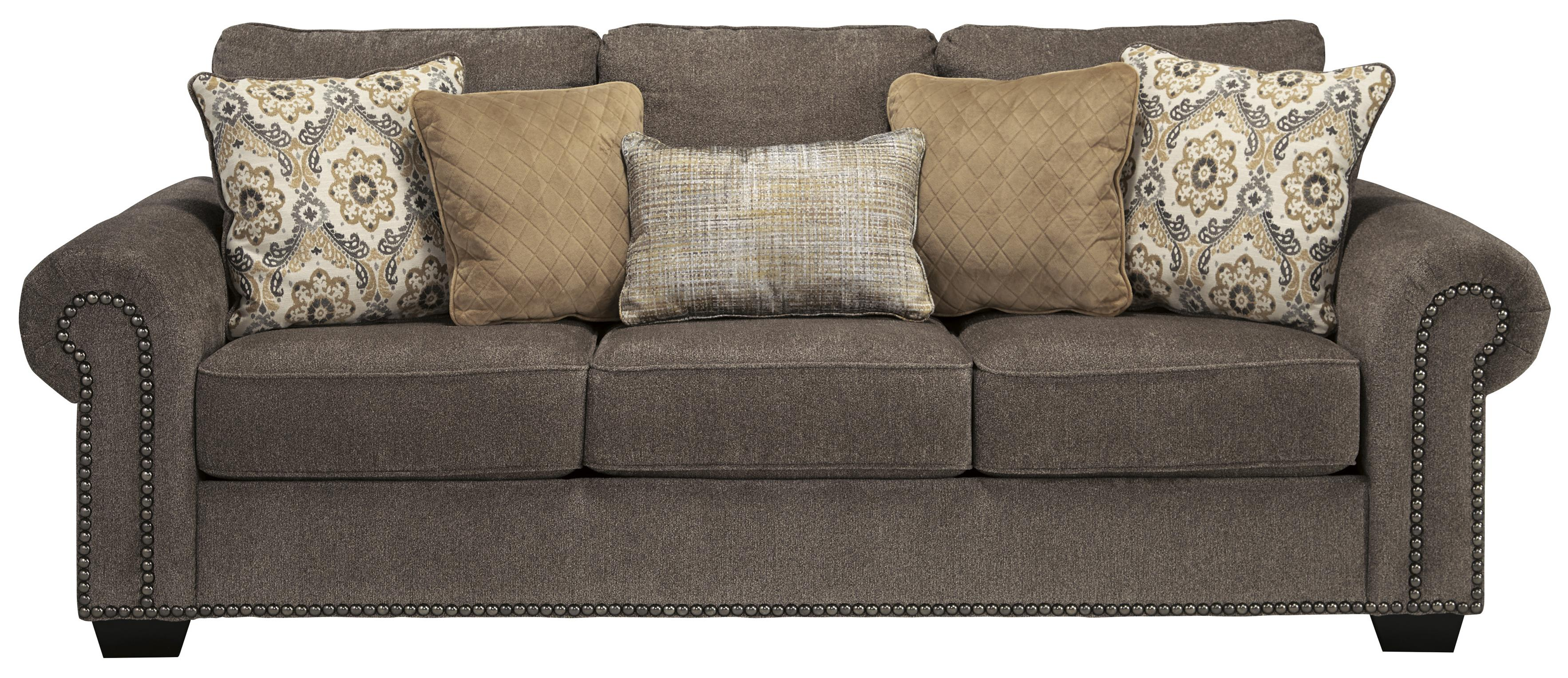 Transitional Queen Sofa Sleeper With Nailhead Trim Amp Coil