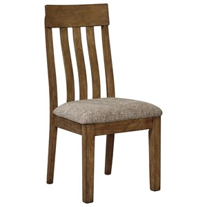 Dining Upholstered Slat  Back Side Chair