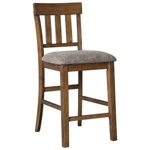 Casual Upholstered Barstool