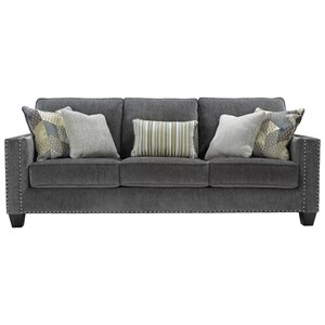 Contemporary Queen Sofa Sleeper with Nailhead Trim