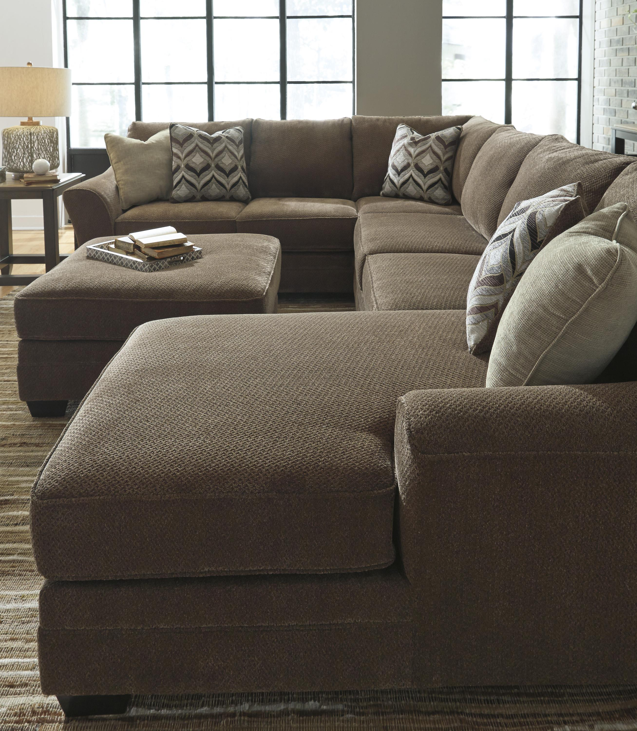 Contemporary 3 piece sectional with right chaise by for 3 piece sectional with chaise