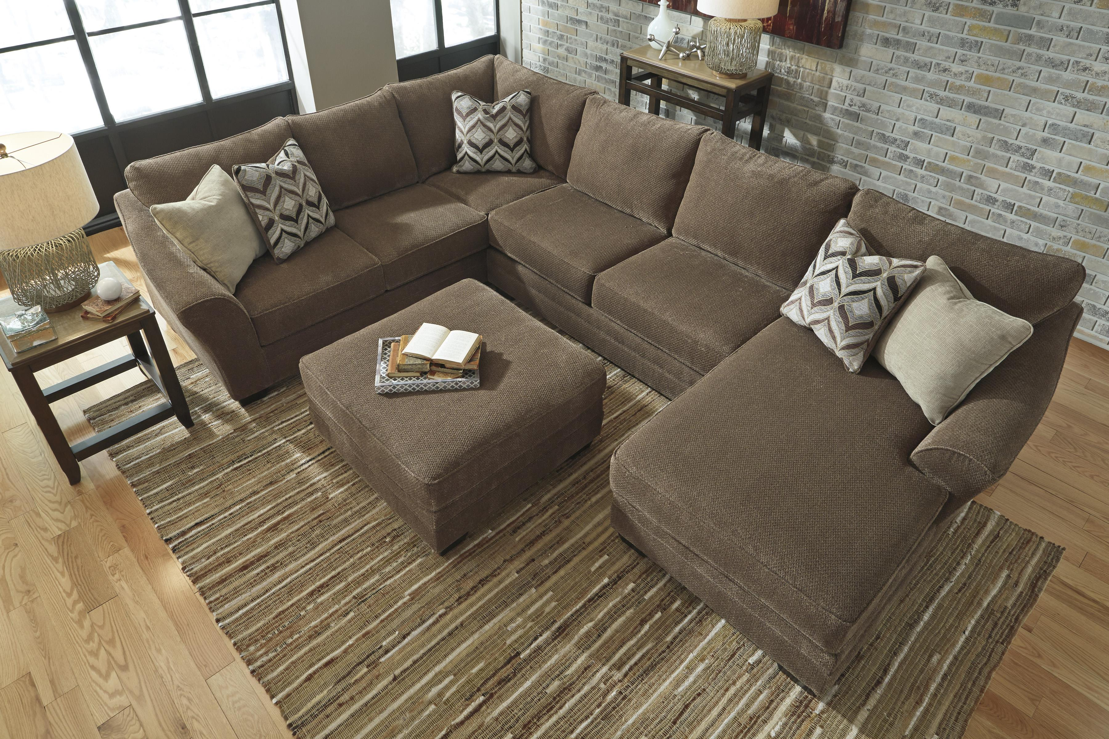 Contemporary 3 piece sectional with right chaise by for Amazon sectional sofa with chaise