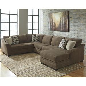 Benchcraft Justyna 3-Piece Sectional with Right Chaise