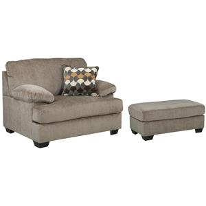 Benchcraft Kenzel Chair and a Half & Ottoman
