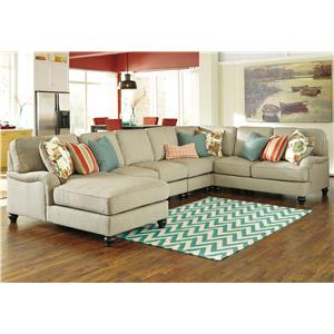 Benchcraft Kerridon 5-Piece Sectional with Left Chaise