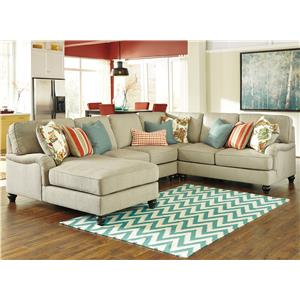 Benchcraft Kerridon 4-Piece Sectional with Left Chaise