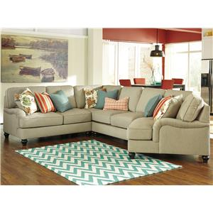 Benchcraft Kerridon 4-Piece Sectional with Right Cuddler