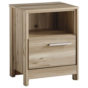 Contemporary 1-Drawer Nightstand with USB Charger
