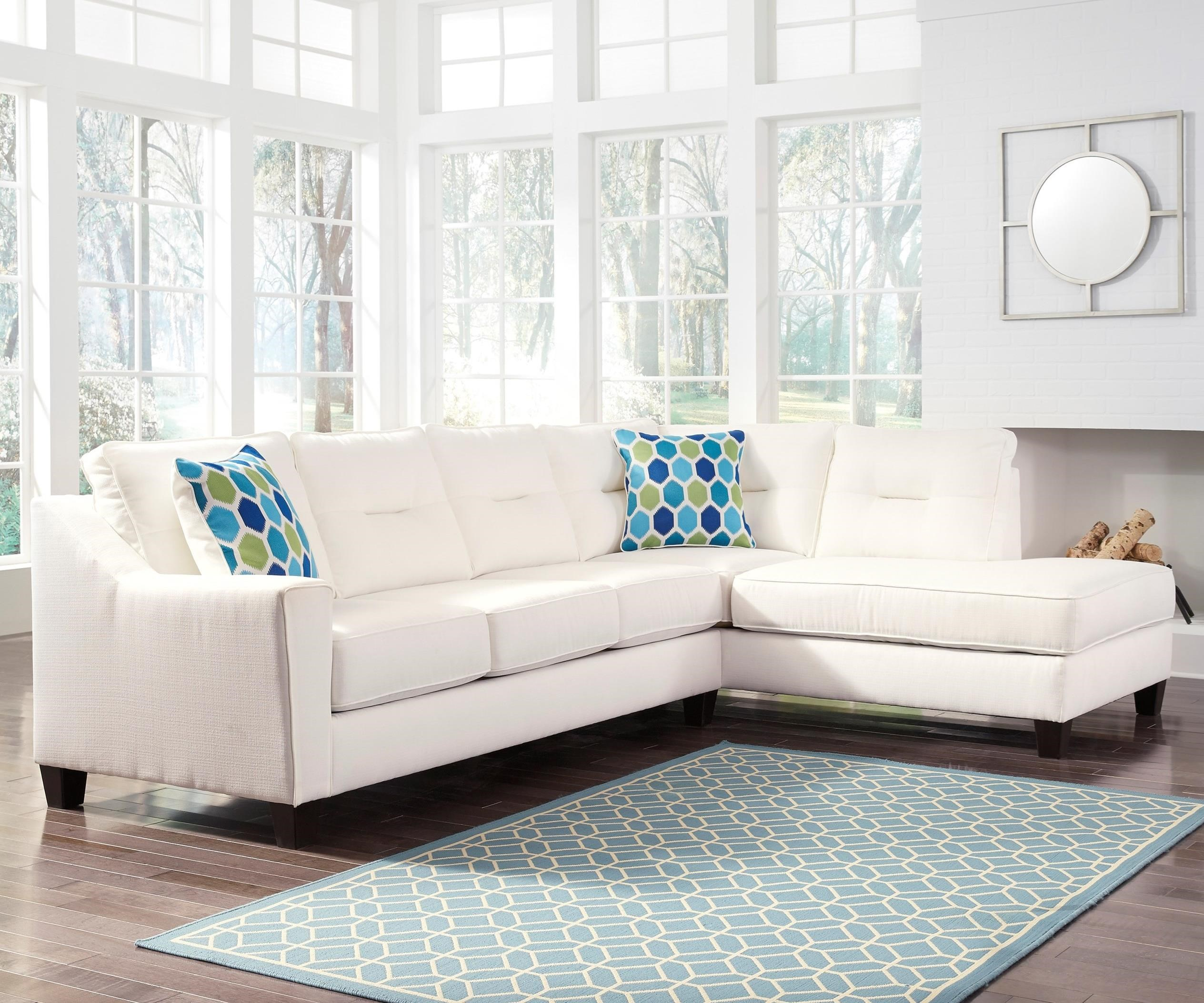 Sectional With Sleeper Sofa Right Chaise In Performance
