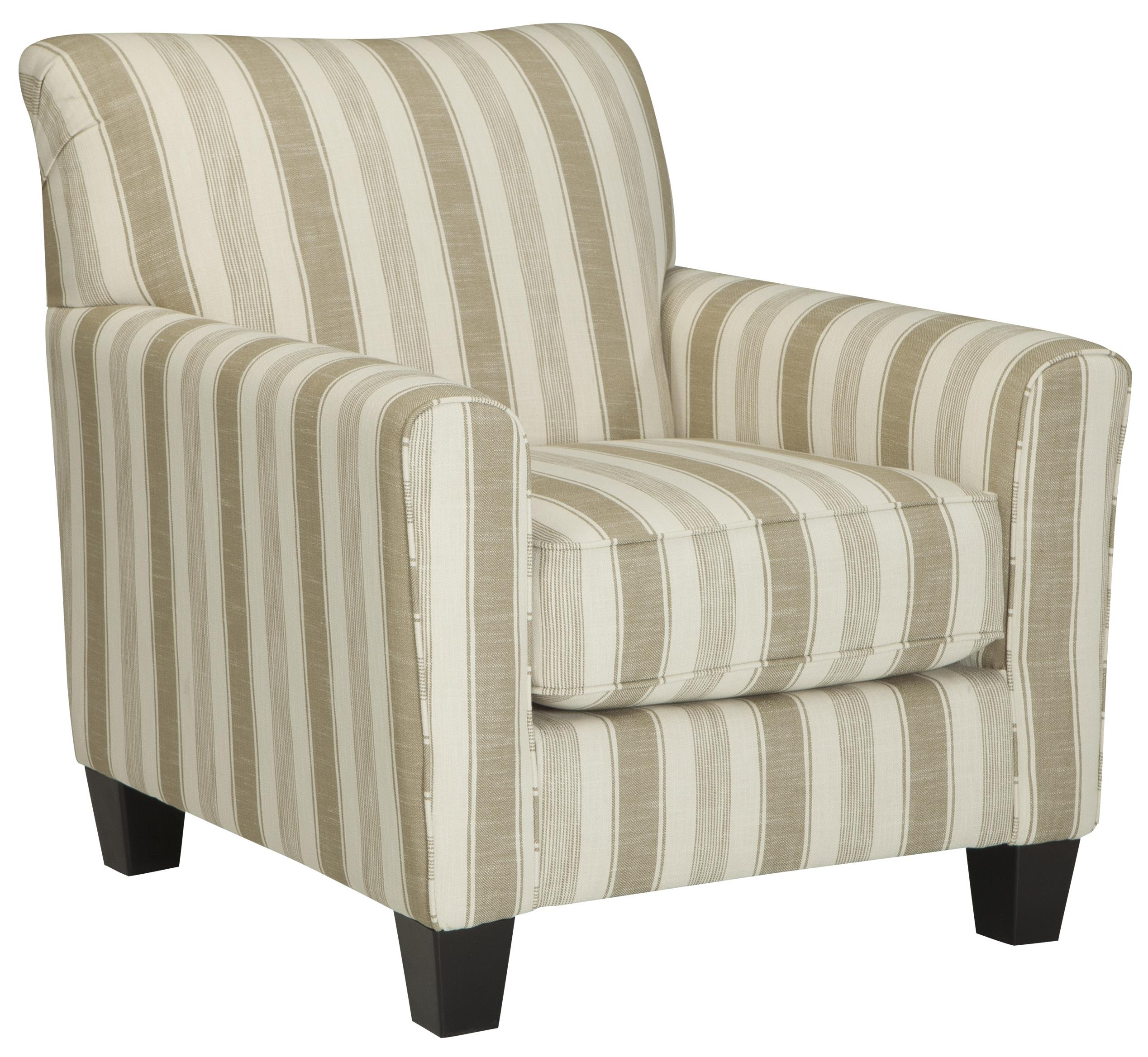 Accent Chair with Neutral Stripe Fabric by Benchcraft | Wolf and ...