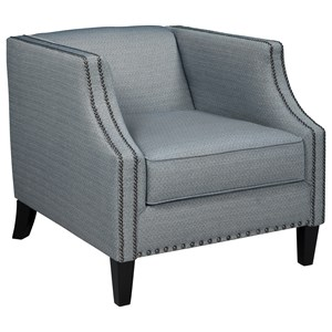 Accent Chair with Tall Tuxedo Arms