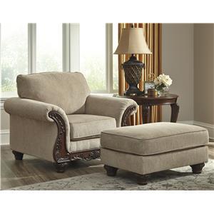 Benchcraft Laytonsville Chair & Ottoman