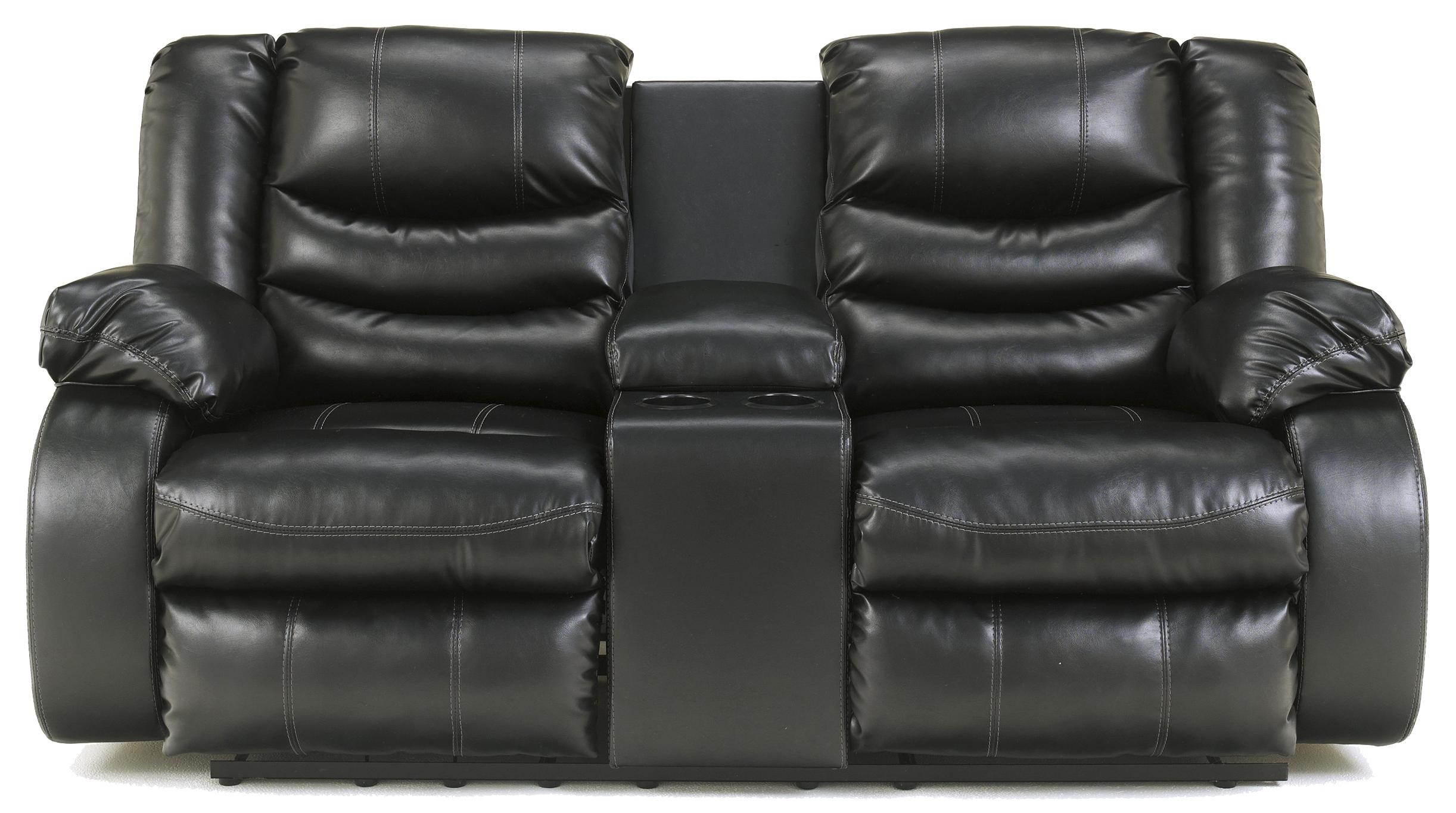 Contemporary Double Reclining Loveseat With Console By