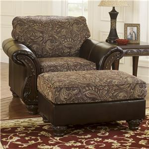 Benchcraft Macneill - Umber Chair & Ottoman Set