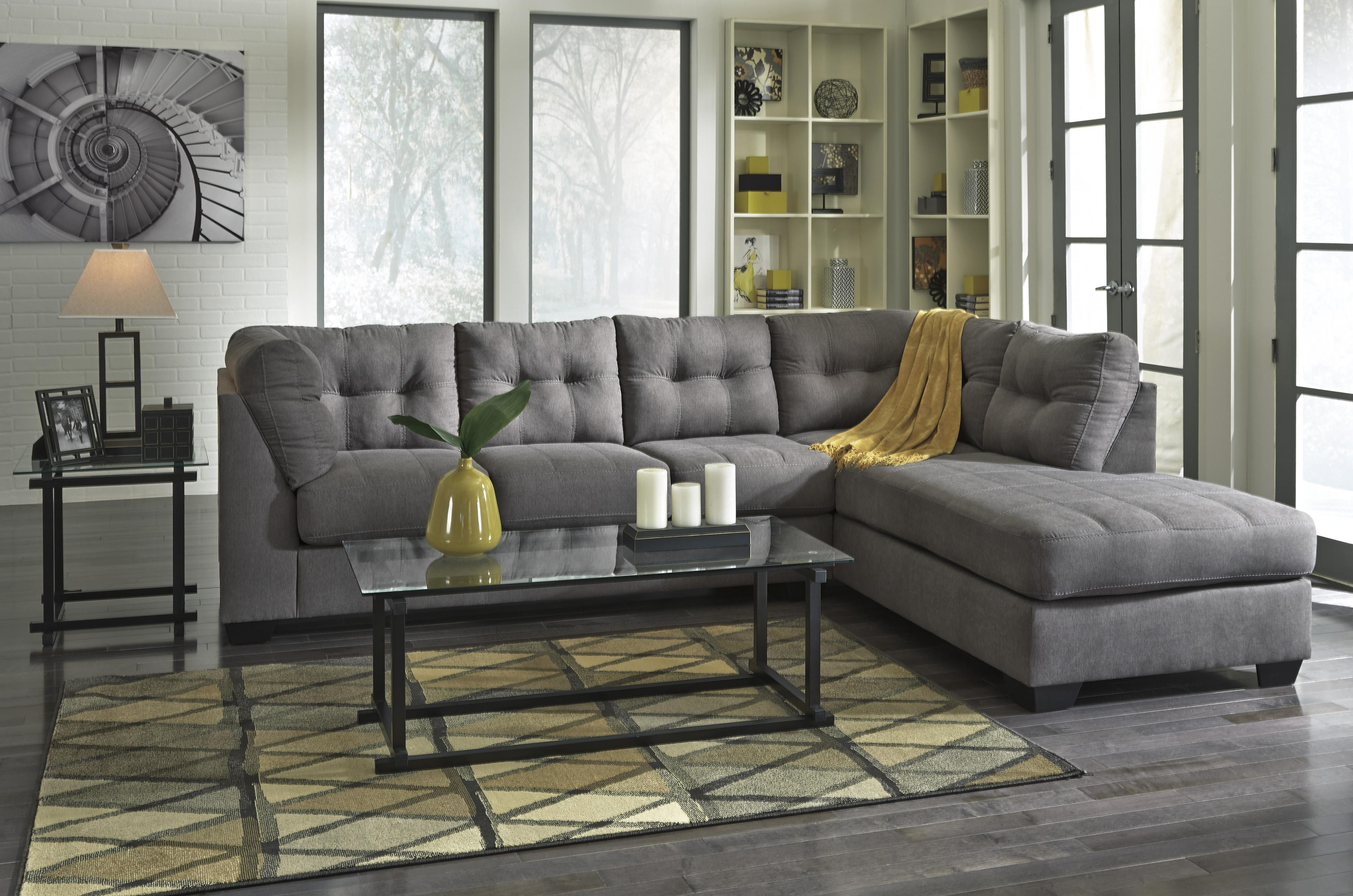 2 piece sectional w sleeper sofa right chaise by