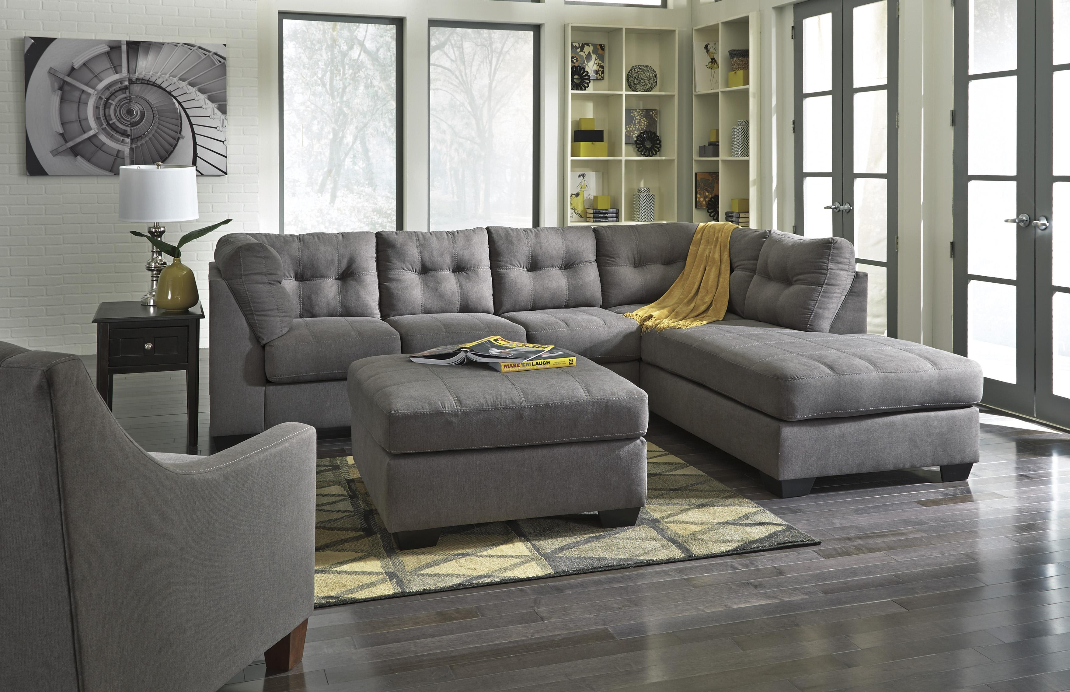 2 Piece Sectional w Sleeper Sofa & Right Chaise by Benchcraft