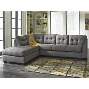 Ashley/Benchcraft Maier - Charcoal 2-Piece Sectional w/ Sleeper Sofa & Ch