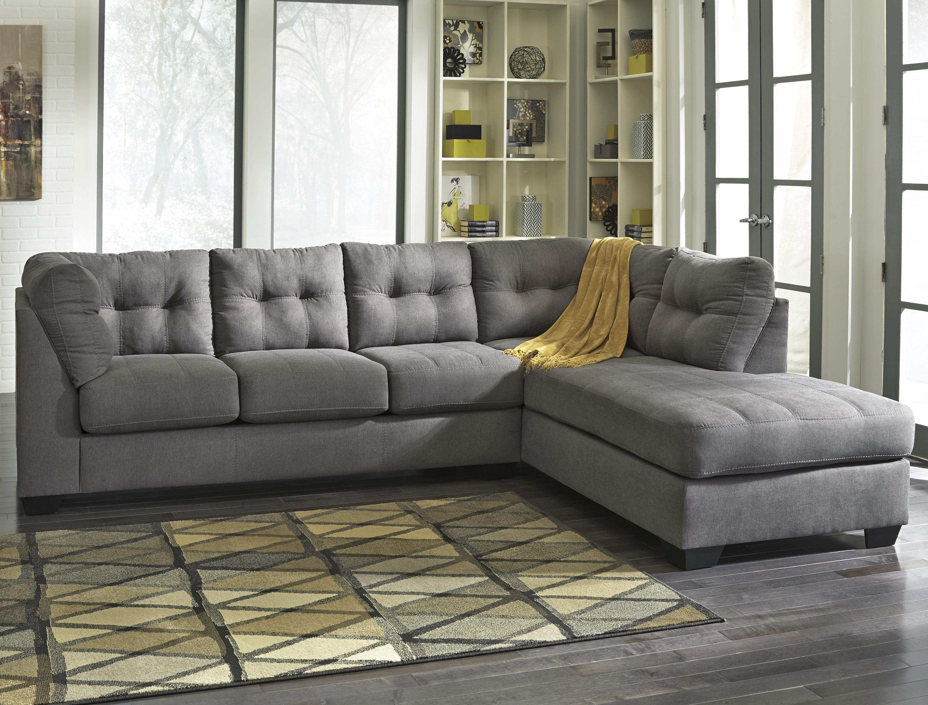 2 Piece Sectional With Right Chaise