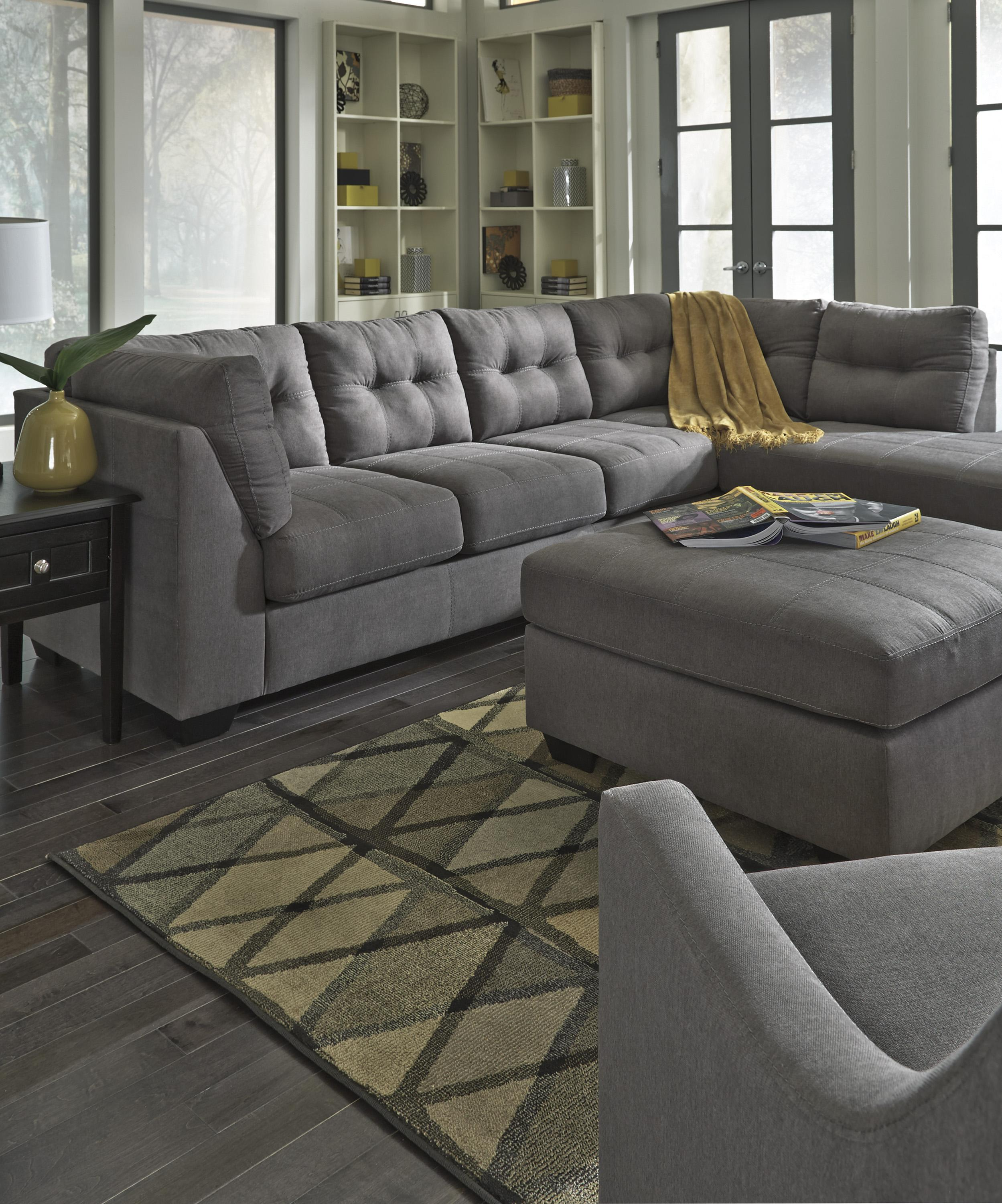 2 Piece Sectional With Right Chaise By Benchcraft Wolf And Gardiner Wolf Furniture