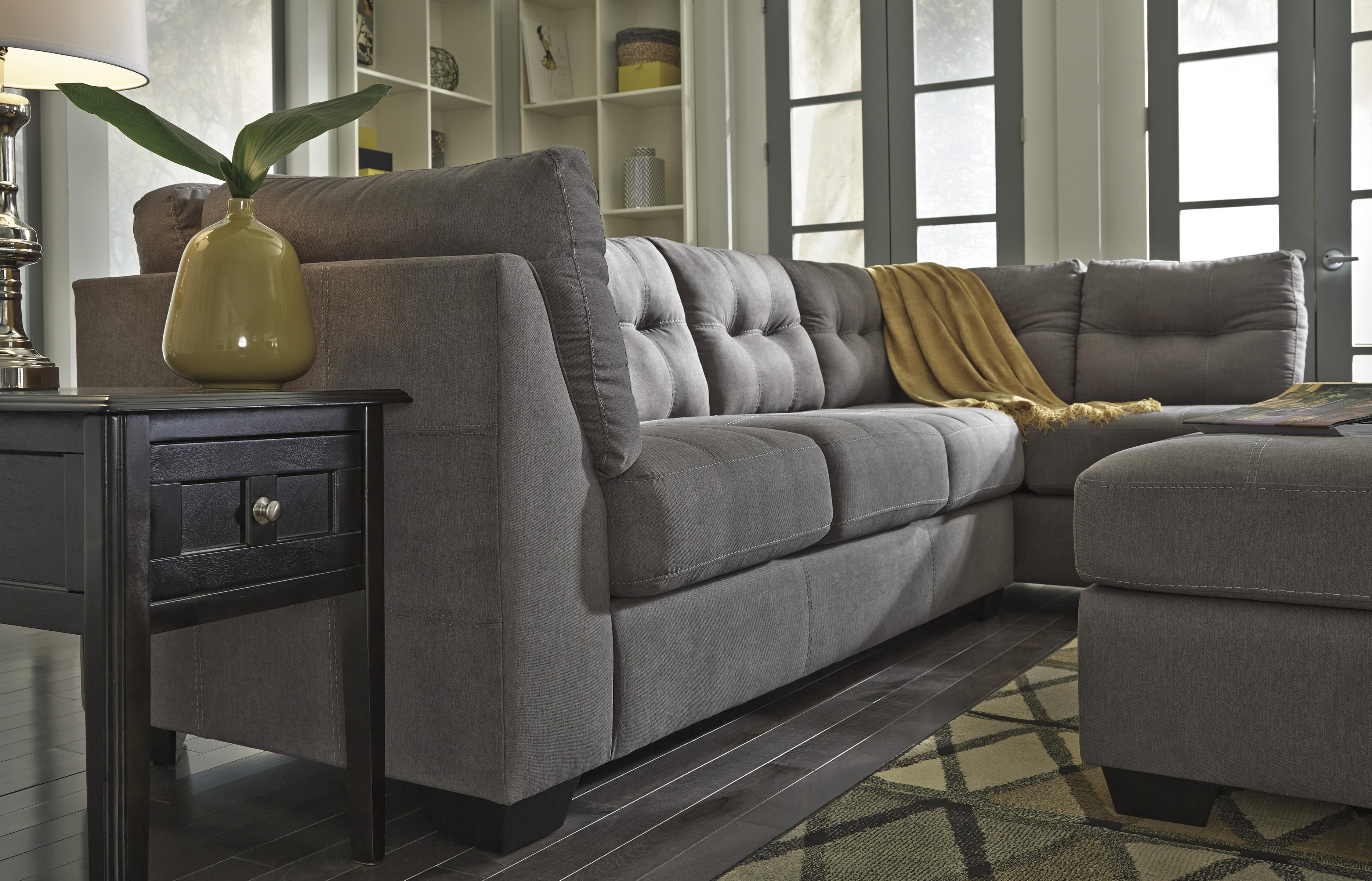 piece chaise benchcraft and furniture sectionals wolf by with large sectional right sofa products