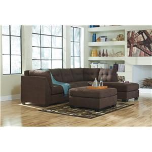 Ashley/Benchcraft Maier - Walnut Stationary Living Room Group