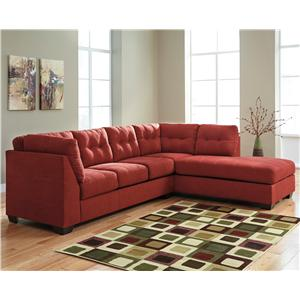Ashley/Benchcraft Maier - Sienna 2-Piece Sectional w/ Sleeper Sofa & Chaise