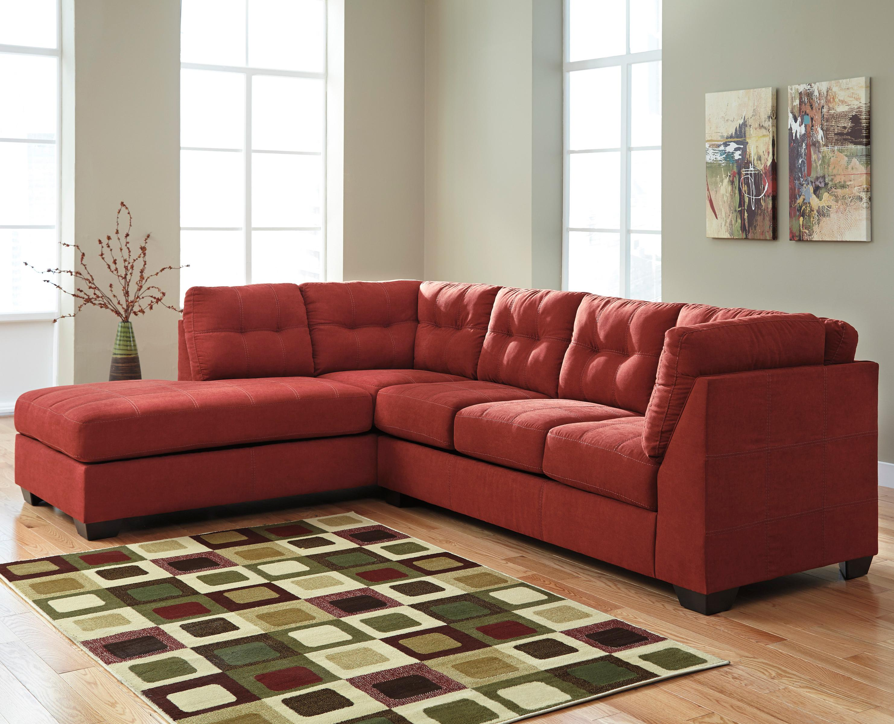 2 Piece Sectional W/ Sleeper U0026 Chaise